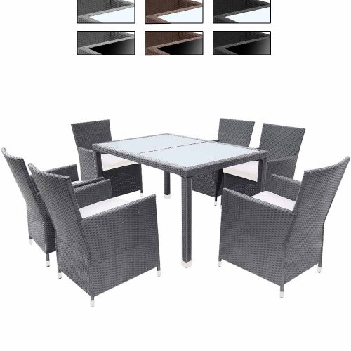 Miadomodo-Elegante-13-teilige-Polyrattan-Sitzgarnitur-Gartenmbel-Set-in-der-Farbe-Ihrer-Wahl-inkl-Kissen-und-2-Glasplatten-in-Schwarz-oder-Milchwei