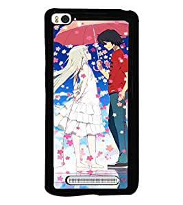 Printvisa Animated Rmantic Couple In A Flower Shower Back Case Cover for Xiaomi Redmi Mi4i::Xiaomi Mi 4i