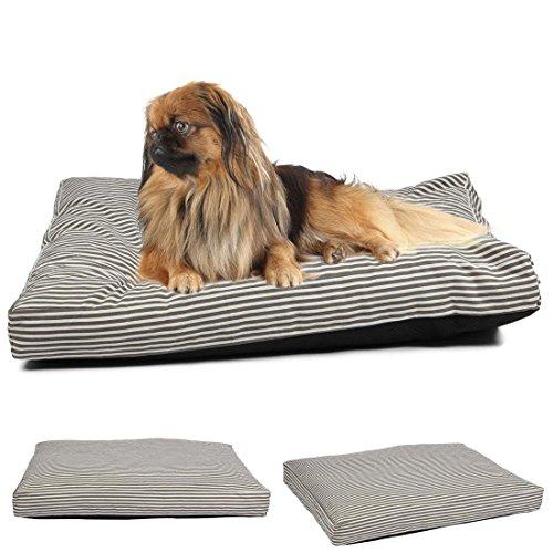 "1Pcs Best Popular Pet Bed Cover Size L 36"" x 29"" Large Mat Dog Comfort Replacement Color Type Stripe Canvas"