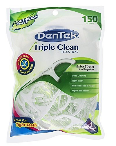 dentek-triple-clean-floss-picks-150-ea-by-dentek-oral-care-inc