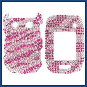 Blackberry 9670 Style Full Diamond Hot Pink Zebra Protective Case from Blackberry
