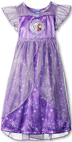 Disney Princess Frozen Nightgown Pajamas (4T, Purple) (Disney Frozen Gowns)