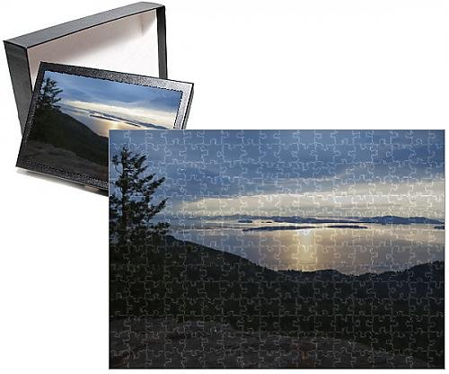 Photo-Jigsaw-Puzzle-of-Sunset-view-of-San-Juan-Islands-from-Oyster-Dome