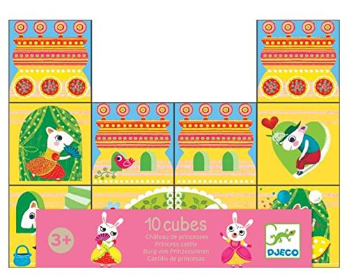 Djeco-10-Cubes-Princess-Castle-Stacking-Blocks