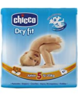 Chicco Couches Dry Fit Taille 5 Junior 12-25 kg - Lot de 3x17 couches (51 couches)