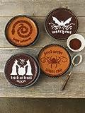 Classic Halloween Cake Stencils 4/Pkg-Halloween Phrase