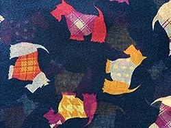 Ladies Blue Oversized Scottie Dog Print Scarf Wrap Gift