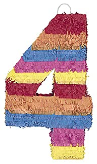 Multicolor Number 4 Pinata