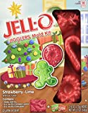JELL-O Jigglers Holiday Mold Kit, Strawberry and Lime, 12 Ounce