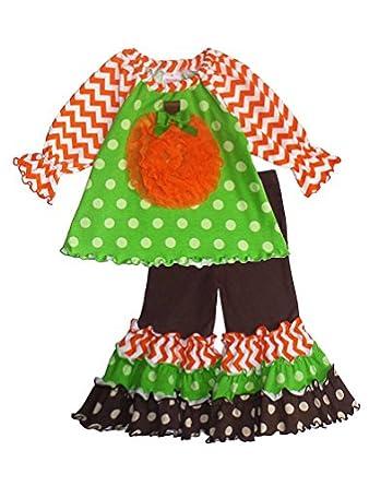 Peaches n Cream Molly & Millie Baby Girls Orange Green