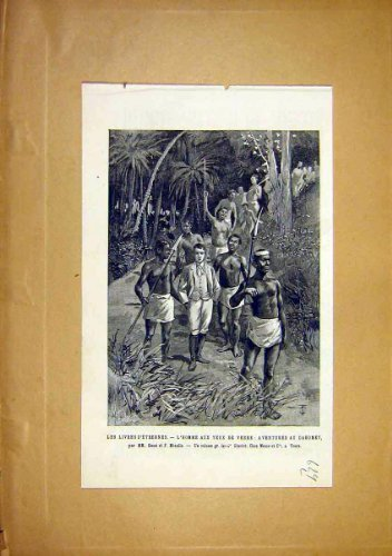 Dahomey Native D'Etrennes Meaulle French Print 1891