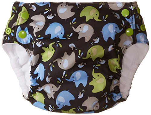 Blueberry Basix All in One Diapers, Elephants, Medium