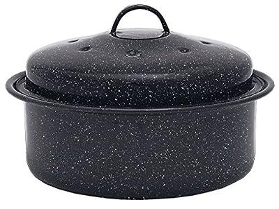 Granite Ware 0517 Covered Round Roaster Pan, Black