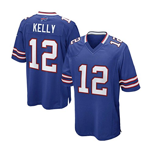 Buffalo Bills Jim Kelly #12 Royal Blue Game Jersey