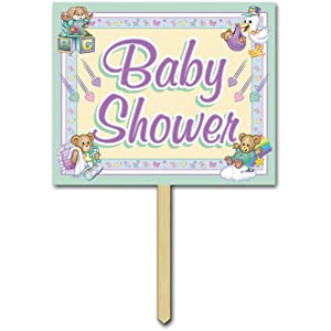 baby shower yard sign party accessory 1 count kitchen