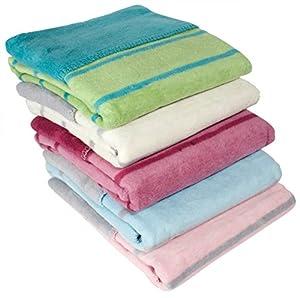 ByBoom - Producto absolutamente natural - Manta suave para bebé, 100% tejido polar de algodón, 75x100 cm, banda; FABRICADA EN LA UNIÓN EUROPEA marca ByBoom en BebeHogar.com