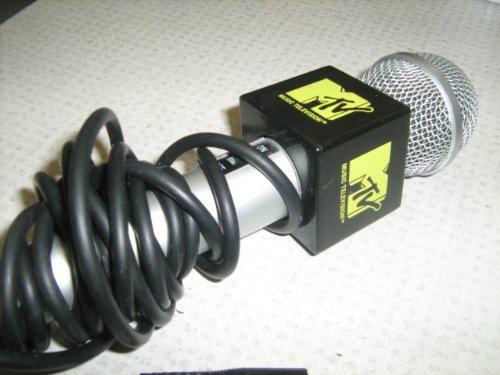 mtv-the-singing-machine-microphone-karaoke-microphone-smm-200-classic-black-yellow-mic-used-very-goo
