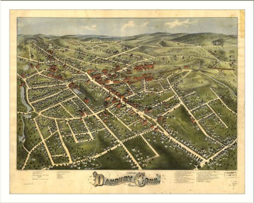 Historic Danbury, Connecticut, c. 1875