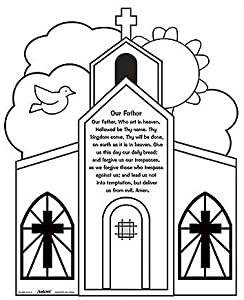 our father prayer coloring pages | Amazon.com: Youth Kids Color Your Own Our Father Prayer ...