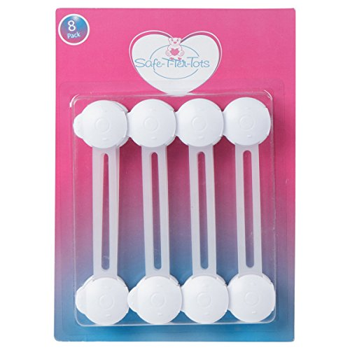 Child-Safety-Locks-For-Babyproofing-Cabinets-Drawers-Refrigerators-Microwaves-Toilets-8-Pack-White-Safe-T-Ter-Tots