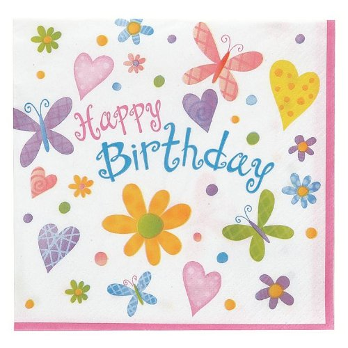Cute Birthday Party Luncheon Napkins 16 Pack - 1