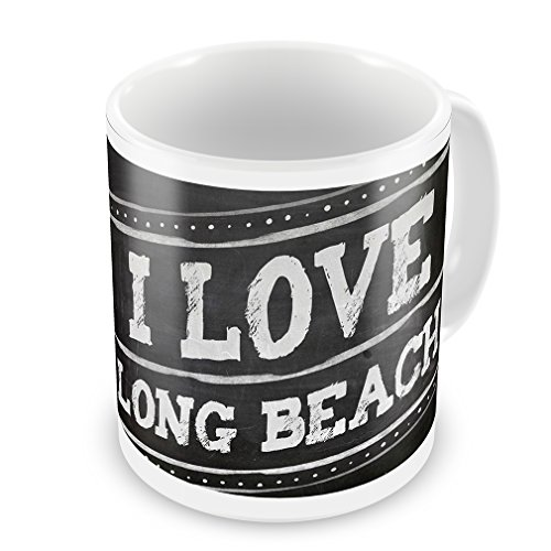 Coffee Mug Chalkboard With I Love Long Beach - Neonblond