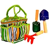 JustForKids Garden Tool Set with Tote