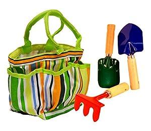 JustForKids Garden Tool Set with Tote