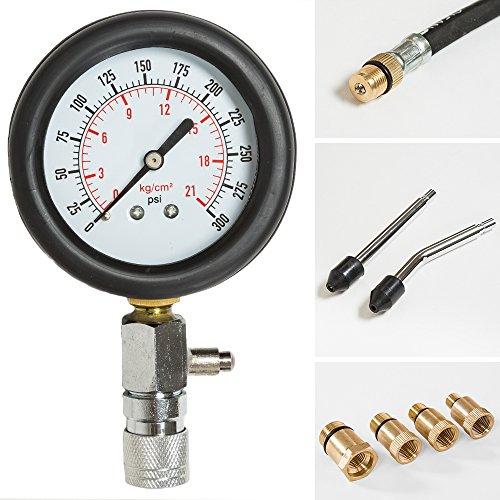 Tectake kit tester pressione di compressione per motori - Kit misuratore di pressione e portata idranti prezzo ...
