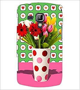PrintDhaba Flower Vass D-2795 Back Case Cover for SAMSUNG GALAXY S DUOS 2 S7582 (Multi-Coloured)