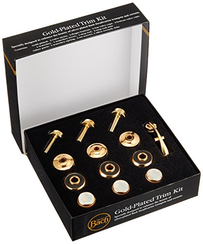 Bach Stradivarius Trumpet Gold Trim Kit, Heavy Bottom Caps