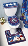 Nautical Bathroom Lighthouse Toilet Commode Set By Collections Etc