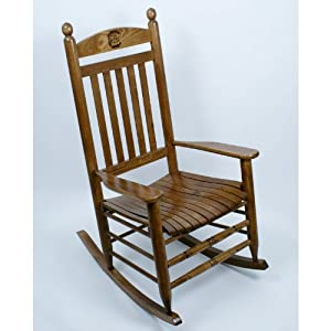 ... - South Carolina Gamecocks Solid Wood Rocking Chair, Maple Finish