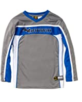 Batman Embroidered Boys Long Sleeve Hockey Inspired Jersey
