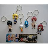 6 Fairy Tail Anime Characters Keychains Set by Takara Tomy A.R.Ts