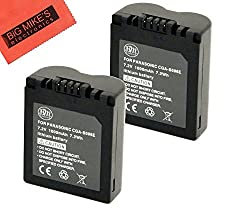 Pack of 2 CGA-S006 Batteries for Panasonic Lumix DMC-FZ7 DMC-FZ8 DMC-FZ18 DMC-FZ28 DMC-FZ30 DMC-FZ35 DMC-FZ50 Digital Camera + More!!