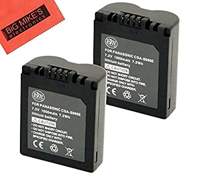 Pack-of-2-CGA-S006-Batteries-for-Panasonic-Lumix-DMC-FZ7-DMC-FZ8-DMC-FZ18-DMC-FZ28-DMC-FZ30-DMC-FZ35-DMC-FZ50-Digital-Camera-+-More!!