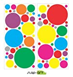 SlapArt SA262232 Colorful Dots rainbow Peel and Stick vinyl stickers wall art graphics decal