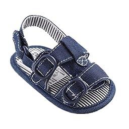 Mjun® Baby Toddler Boys\' Cowboy Anti-Slip Flat Sandals Summer Prewalkers (6-12 months, nevy blue )