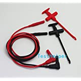 TestHelper TH-F-2-KIT Insulation Piercing Clip Test Probe + Silicone Test Lead Set, Hook Banana Jack Spring Loaded Copper Kit