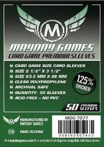 Mayday Games 7077 Card Game Sleeves, Dark Green