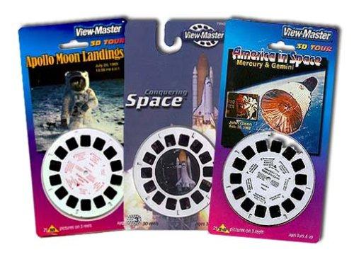 Imagen de La conquista del espacio, el Proyecto Mercury (John Glenn), aterrizaje en la Luna - 3-ViewMaster 3 juegos del carrete - 9 rodillos temáticas el espacio 3D