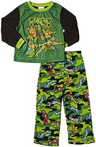 Teenage Mutant Ninja Turtles Little Boys' Teenage Mutant Ninja Turtles Camo Masks Cozy Fleece Pajama Set ,Multi ,2T