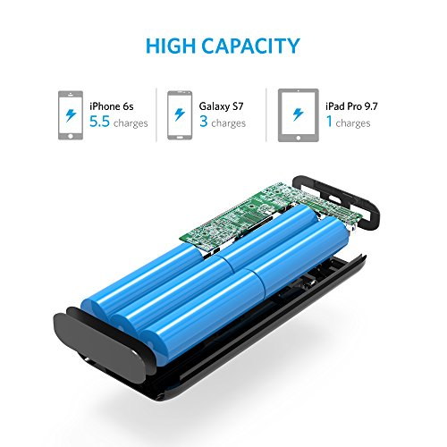 Anker Batteria Esterna Portatile 16750mAh [Capacità Aumentata] Astro E5 2nd Gen - Power Bank Portatile ad Alta Capacità con Tecnologia a Ricarica Rapida PowerIQ (fino a 3A) per Smartphone Android, iPhone e Altro