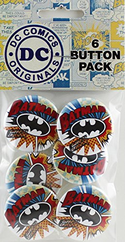 Button set DC Comics Batman Burst 6 Individual Loose Buttons, 1.25""