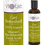 100% Natural Vitamin C Skin Whitening Facial Scrub, Gentle Exfoliating & Smoothing - 'Get Refreshed!' by Vi-Tae - For all Skin Types - 4.46oz