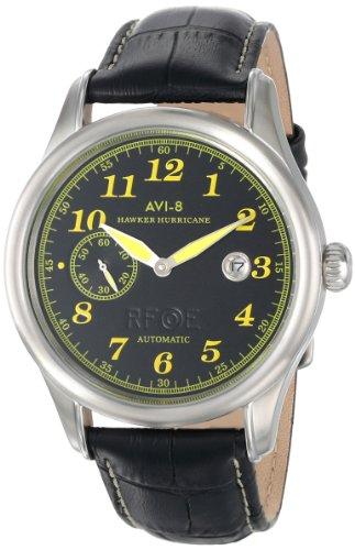 AVI-8 Men's AV-4017-05 Hawker Hurricane Analog Self-Wind Automatic Black Watch