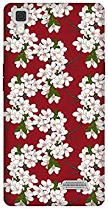 The Racoon Lean printed designer hard back mobile phone case cover for Oppo R7 Lite. (Cherry Flo)