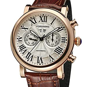 Amazon.com : LNTGO Relojes Hombre Forsining Luxury Brand Rose Gold