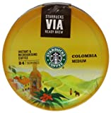 Starbucks Colombian Via Coffee 55 g (Pack of 8)